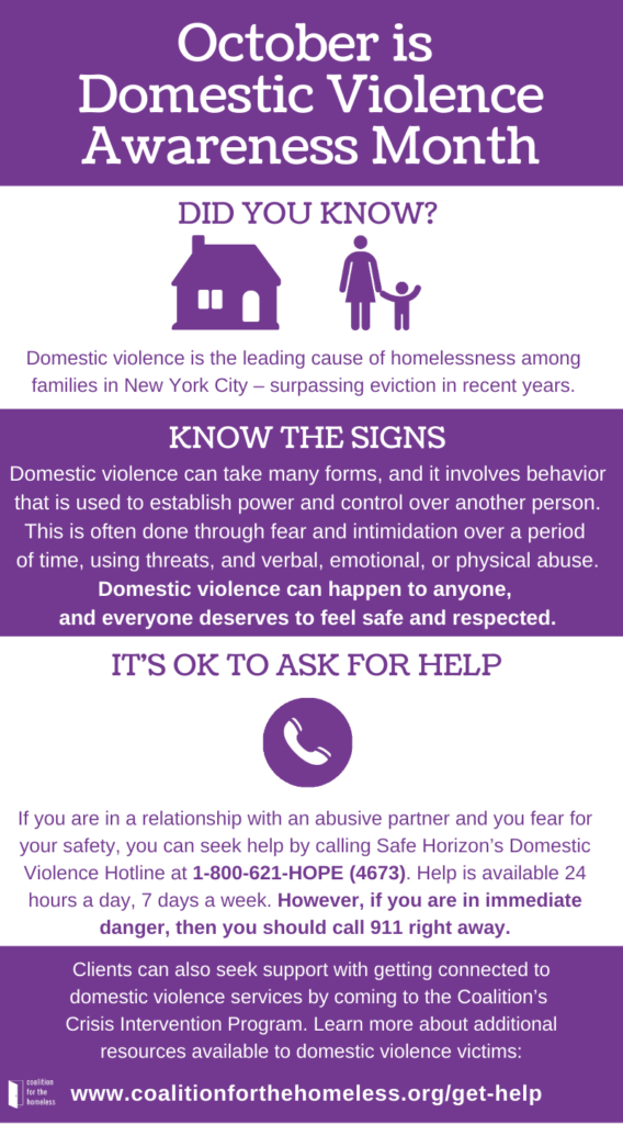GRAPHIC: October is Domestic Violence Awareness Month